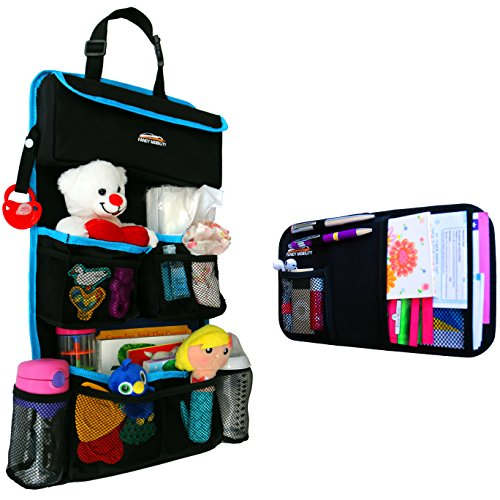 Backseat Car Organizer - Kids Toy Storage - Comes with Visor Organizer (Truck Back Seat Storage compare prices)