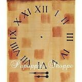 Clock Stencil Roman Numerals 8'', by 8'',!