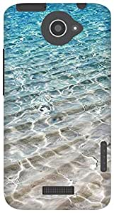 The Racoon Lean Crystal Sea hard plastic printed back case for HTC One X