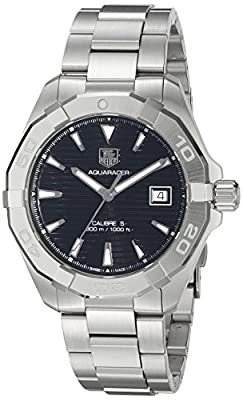 TAG Heuer Men's 'Aquaracer' Swiss Automatic Stainless Steel Dress Watch (Model: WAY2110.BA0928)
