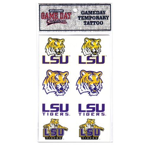 NCAA Louisiana State Fightin Tigers Tattoo at Amazon.com