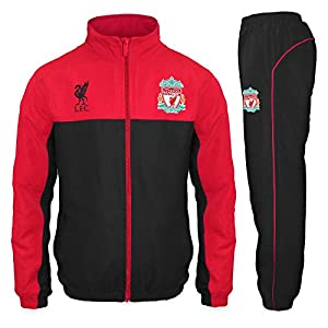 Liverpool FC Official Football Gift Boys Tracksuit Set 8-9 Years MB by Liverpool FC