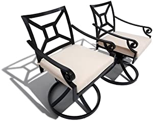 Amazing Strathwood Grand Isle Swivel Rocker Dining Chair