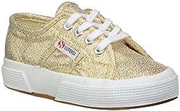 Superga Kids Girl\'s 2750 LAMEJ (Toddler/Little Kid) Gold Metallic SP 11 Sneaker 26 (US 9.5 Toddler) M