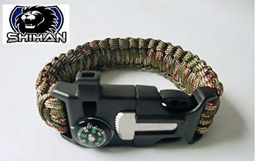 army-shihan-survival-paracord-bracelet-camping-outdoor-rescue-parachute-cord-wristband-flint-fire-st