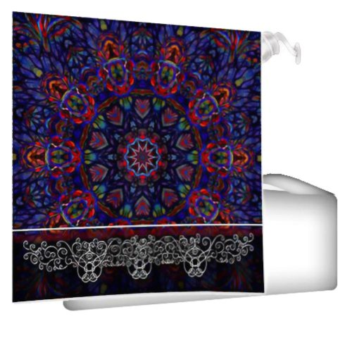 Amazon.com - Abstract Blue and red Mandala 2 Shower Curtain -