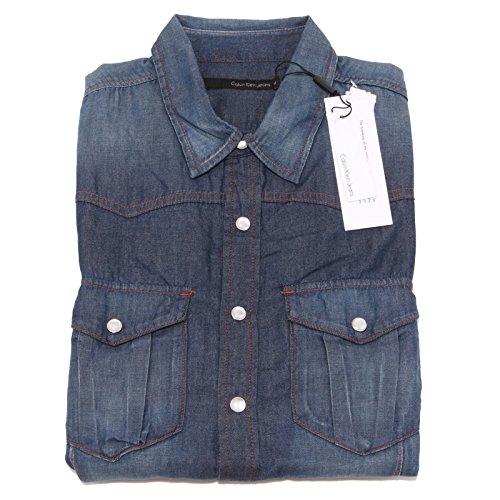 0569P camicia uomo CALVIN KLEIN JEANS manica lunga jeans shirt long sleeve men [M]