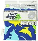 Itzy Ritzy Snack Happens - Bolsa reutilizable para guardar comida, diseño de dinosaurios