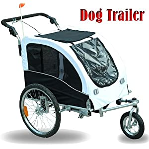 Aosom 2in1 Pet / Dog Bike Trailer and Stroller - White at Sears.com