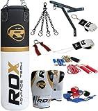 Authentic RDX 13 PC Professional Boxing Set 4ft/5ft Punch Bag,Gloves,Bracket MMA