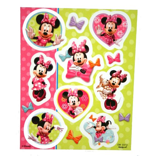 Minnie Mouse Bow-Tique Sticker Sheets : package of 40 - 1