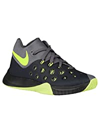 Nike Zoom Hyperquickness 2015 Men Basketball Shoes New Grey Black Volt