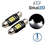 SiriusLED Extremely Bright 400 Lumens 3020 Chipset Canbus Error Free LED Bulbs for Interior Car Lights License Plate Trunk Side Marker Courtesy 1.50