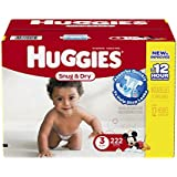 Huggies Snug and Dry Diapers, Step 3, Economy Plus, 222-Count