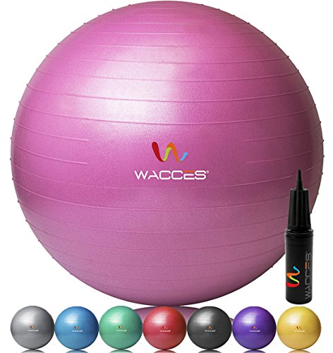 Wacces® Fitness Exercise and Stability Ball (Pink, 55 cm)