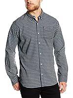 Hilfiger Denim Camisa Hombre (Azul Oscuro / Blanco)