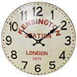 Vintage Style Kensington Station London Tin Wall Clock 34cm