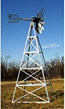 Deluxe 20 ft Customized Powder Coated Steel Underwater Aeration Windmills