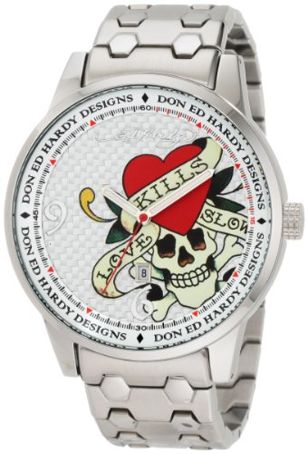 Ed Hardy Men's ST2-SR Stellar II Silver Watch