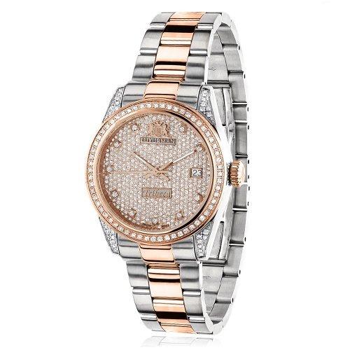 LUXURMAN 2483 - Reloj para mujeres, correa de acero inoxidable color plateado