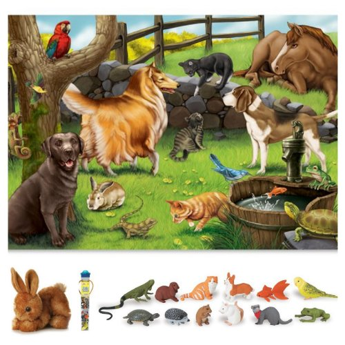 Cheap Bundles of Fun Melissa & Doug Pets Floor Puzzle with Pets Toob Bundle of 3 Items with **BONUS** by Bundles of Fun (B0052AVB60)