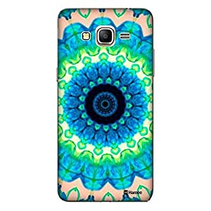 Customizable Hamee Original Designer Cover Thin Fit Crystal Clear Plastic Hard Back Case for Samsung Galaxy J7-6 (New 2016 Edition) (Blue Green Kaleidoscope)