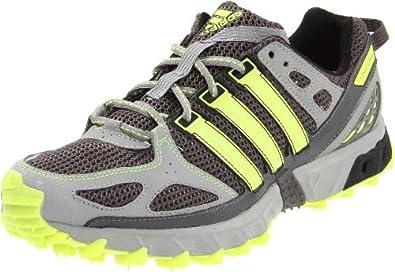 adidas Men's Kanadia 4 TR Trail Running Shoe,Shift Grey/Electricity/Black,7 D US