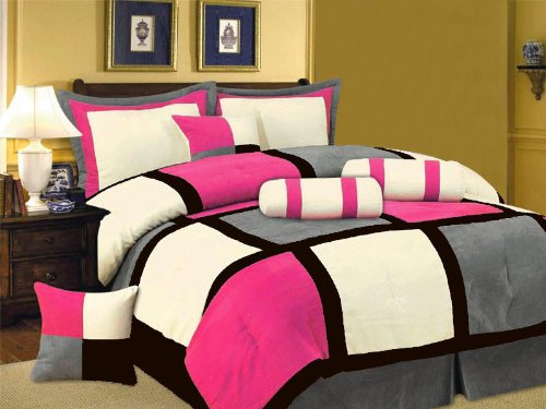 Black White And Pink Bedding 3822 front