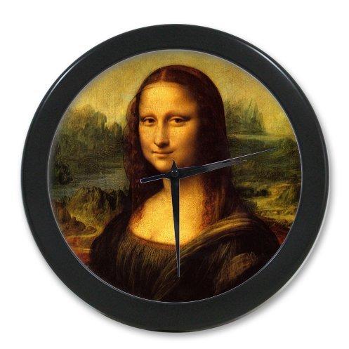 Mona Lisa by Leonardo da Vinci world famous painting artwork Custom Elegant Wall Clock 100% Quartz