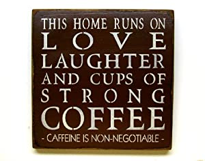 """Wooden Sign / This Home Runs/ 12""""x12"""" Wooden Sign"""