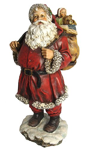 Bristol Falls Vintage Style Jolly Santa with Toys Christmas Figure