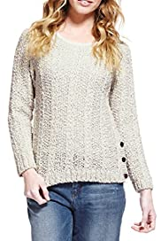 Pure Cotton Cable Knit Twisted Jumper [T66-2605-S]