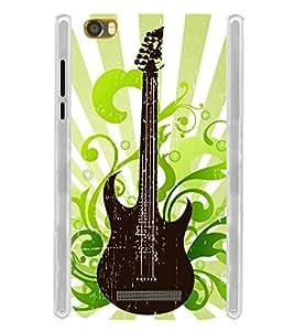 Graphic Guitar Soft Silicon Rubberized Back Case Cover for Lava Iris X8 :: Lava Iris X8 4G