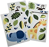 Kids Line Jungle 123 Wall Decals, Brown