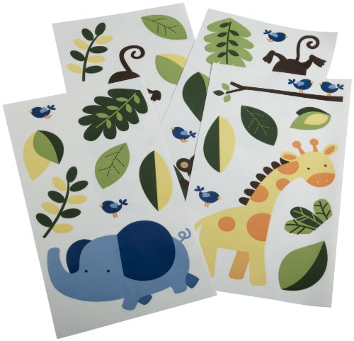 Kids Line Jungle 123 Wall Decals, Brown (Discontinued by Manufacturer)
