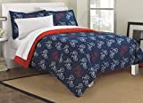 Loft Style Bicycles Ultra Soft Microfiber Teen Bedding Comforter Set, Blue, Twin