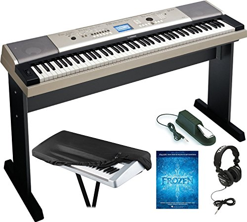 yamaha-ypg-535-88-portable-electronic-keyboard-with-headphones-dust-cover-and-sustain-pedal-plus