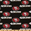 NFL Cotton Broadcloth San Francisco 49ers Black/Red Fabric