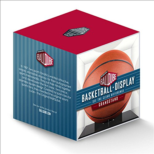 NBA Ball Qube Grandstand Basketball Display with Black Base (Gold Ball Display compare prices)