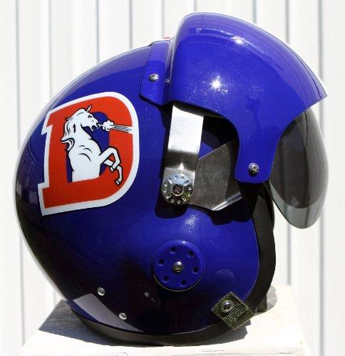 Denver Broncos Throwback Fighter Pilot Helmet - NFL Football USAF Air Force -...