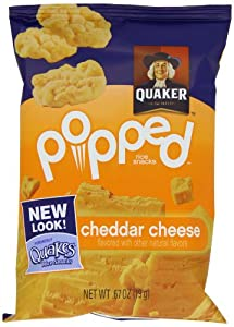 Quaker Popped Rice Snacks Cheddar Cheese 60 Count
