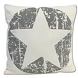 JEMIDI Deko Kissen Sterne gefüllt 45cm x 45cm Sofakissen Stern Weihnachten Zierkissen Couchkissen Stern Grau - 6