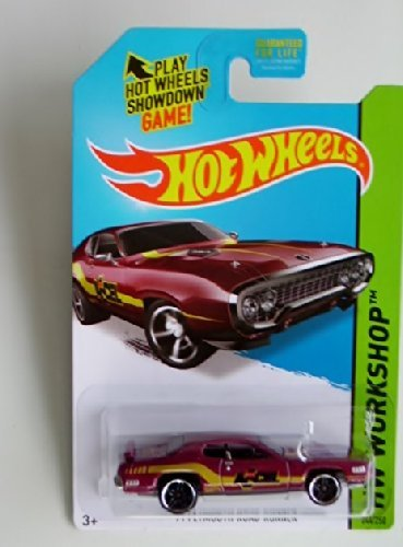 '71 Plymouth Road Runner (Burgundy) Diecast Car (Hot Wheels)(2013) - 1