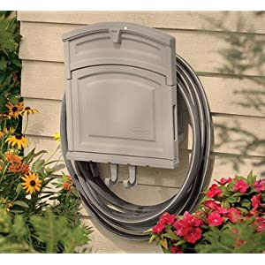 Suncast HHC150 Garden Hose Hanger with Storage Cabinet And 150-Foot-Hose Capacity