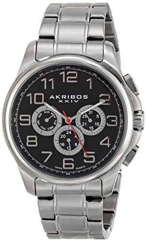 "Akribos Xxiv Men'S Ak748Ssb ""Ultimate"" Silver-Tone Watch"