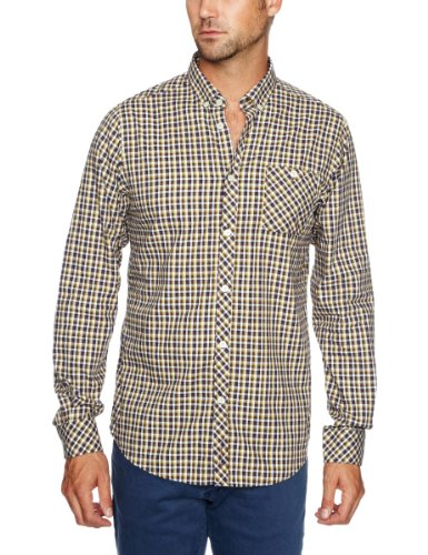 Ben Sherman Long Sleeve Regular Fit Men's Shirt Sulphur Small