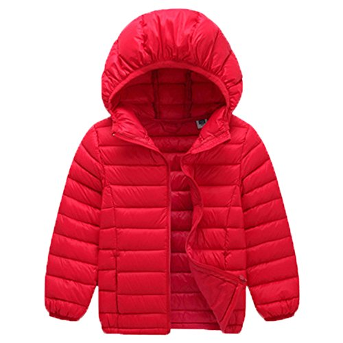 VICVIK Boys and Girl Fashion colorsfhl Down feather Jacket Coat Kid Winter Clothes (90, Red) (Down Jacket Kids compare prices)