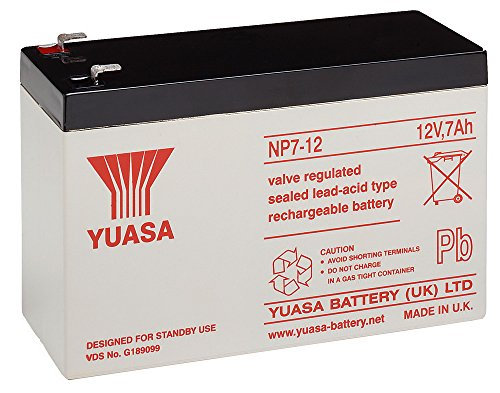 Batterie ploMB), yuasa rE 7-12L 6-9 ans 12 v 7 ah (faston - 6,35 230 mm) 151 mm