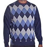 Izod Men's Argyle Logo Pull Over Sweater