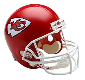 NFL Kansas City Chiefs Deluxe Replica Football Helmet by Riddell
